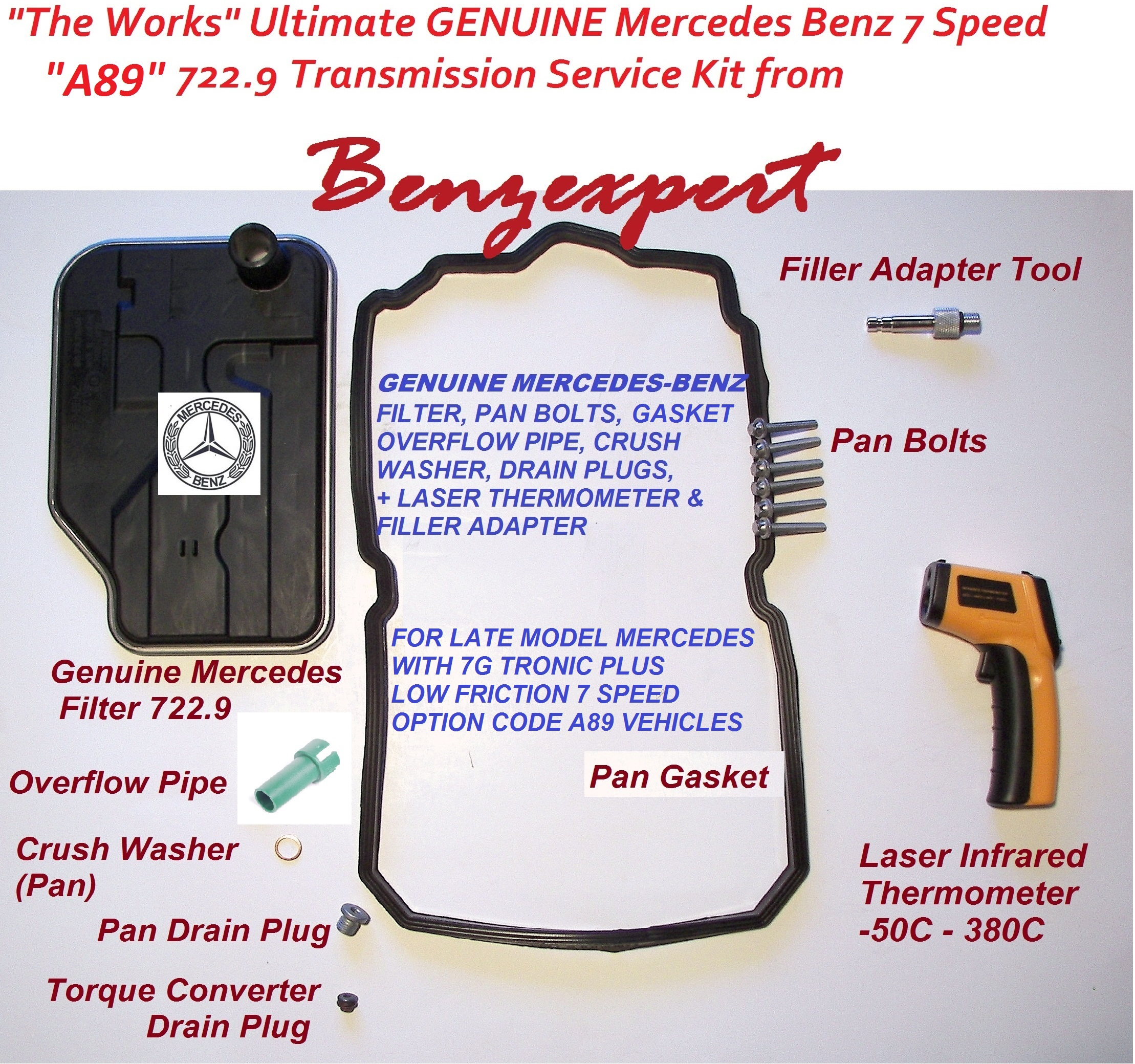 Mercedes A89 7 speed transmission service kit